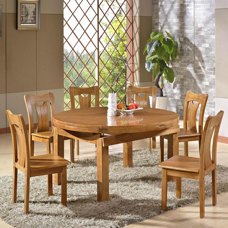 Sólido moderna mesa de comedor de madera retráctil roble mesa ...