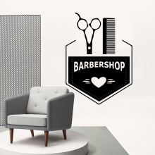 Cartoon barber shop Wall Stickers Personalized Creative For Babys Rooms Art MURAL Drop Shipping