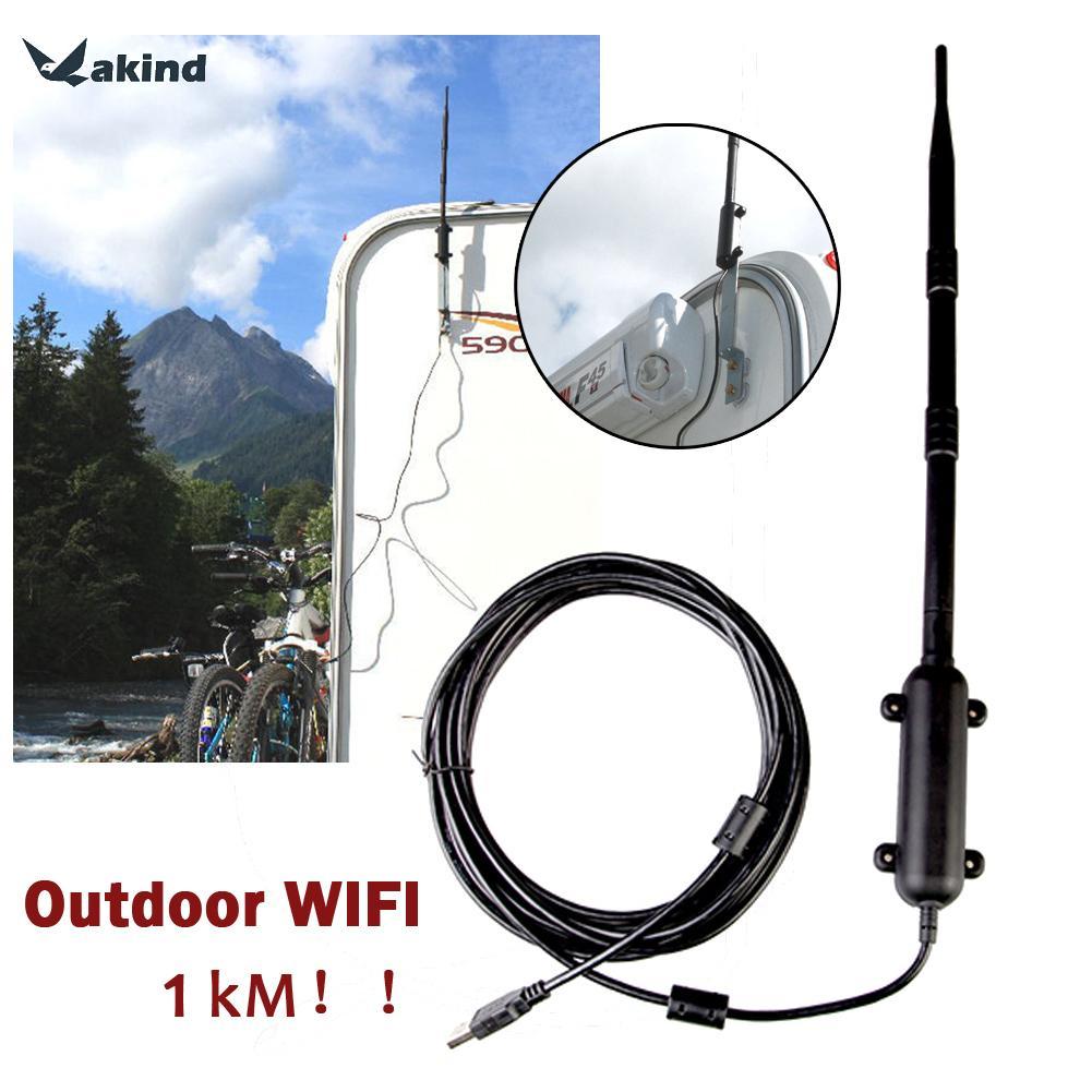 1000 M Haute Puissance Extérieure WiFi Antenne USB Adaptateur de Signal Cellulaire Amplificateur Omni-directionnel Sans Fil Carte Réseau Récepteur