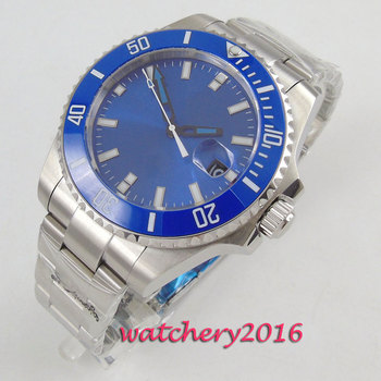 2019 Bliger Fashion Sterile Dial Military Automatic Men Watch Steel Sapphire Watches Classic Clock Wristwatch Relogio Masculino