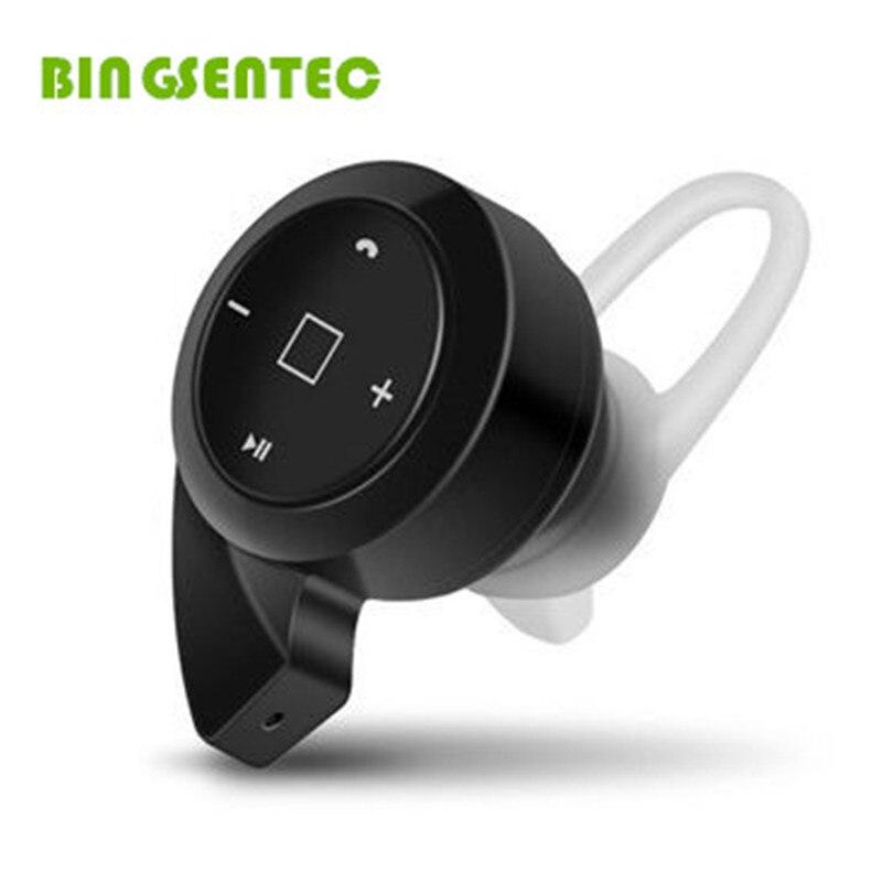 BINGSENTEC Mini A8 Stealth Earphone Bluetooth 4.1 Stereo Headphone Ear Hook Headset Mic Handfree For iPhone 6 6s 6plus 7 Mp3 Mp4 new m beans shape 4 0 bluetooth headset mini touch stealth