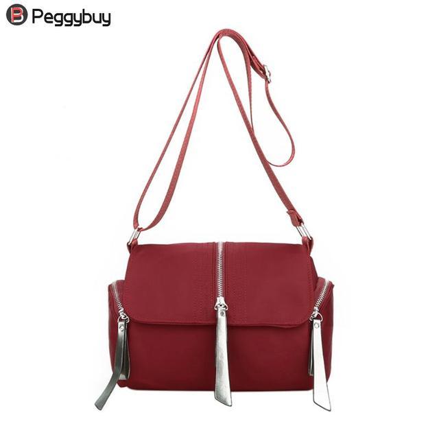 4c9b57b3e2ec Women Shoulder Bags Fashionable Travel Tote Oxford Cloth Waterproof  Shoulder Bag Girls Solid Handbags Messenger Crossbody Bags
