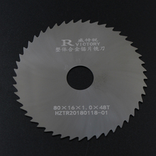 цена на 3pcs Slitting Saw Blade 80mm Thick 0.5mm to 2mm Solide Carbide Circular Milling Saw Blades CNC Lathe Metal Cutting Tool