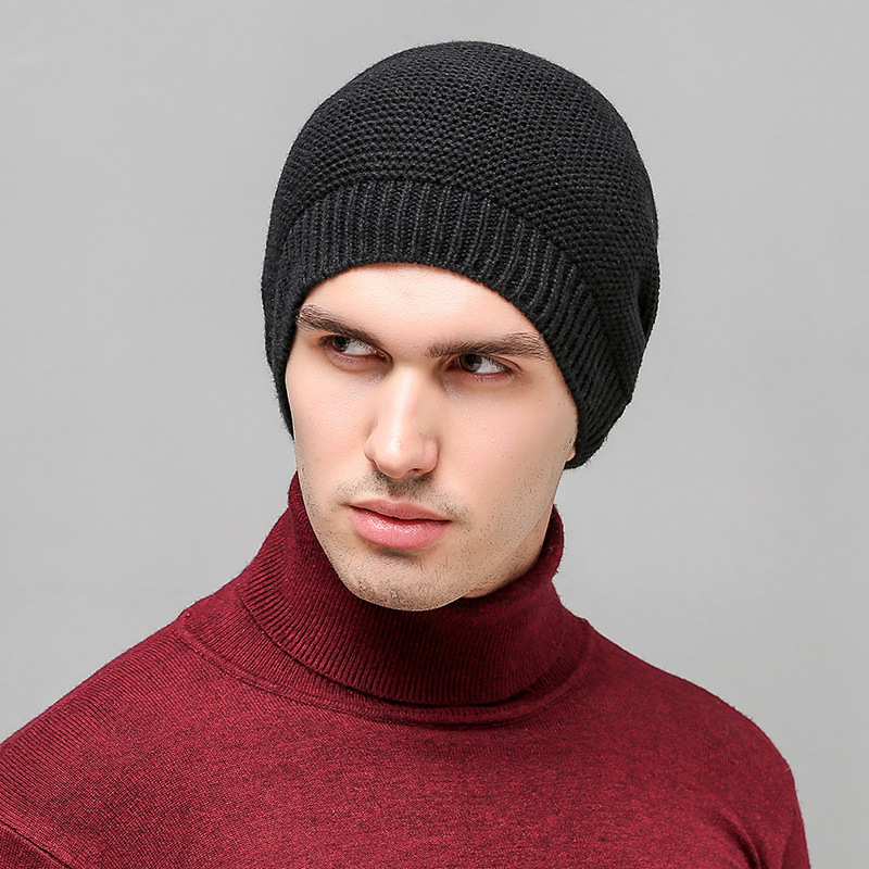 2017 New Winter Beanies Hat For Women Knitted Wool Skullies Cap Men Outdoors Unisex Casual Solid Knitting hats knitted skullies cap the new winter all match thickened wool hat knitted cap children cap mz081