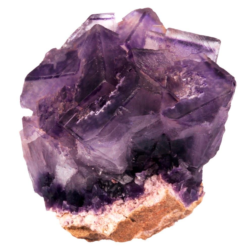 TUMBEELLUWA 1Pc Natural Purple Fluorite Crystal Quartz Cluster Geode Druzy Specimen Irregular Stone