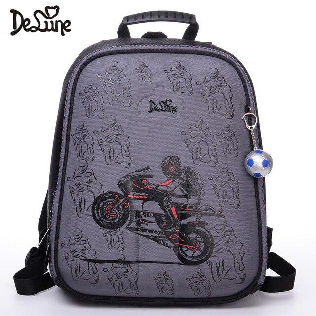 2018 Delune Brand Factory Outlet Kids School Backpacks Boys Fashion School  Bags Girls Waterproof Motorcycle School Backpacks Bag b02ca90968354