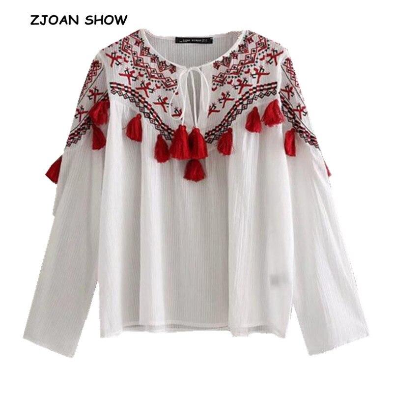 Chemise ethnique avec une frange en mode ...