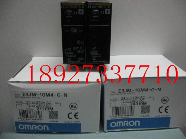 [ZOB] New original OMRON Omron photoelectric switch E3JM-10M4-GN