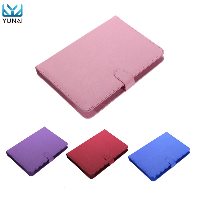 YUNAI Universal Tablet keyboard PU Leather Case 10inch Cover Skin New Tablet 10inch Case Flip Stand Cover For Samsung For Lenovo universal wired usb keyboard for windows xp window 7 and above androids 3 0 and above keyboard skin cover new arrival