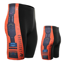 Life on track Men's Technical Graphic Padded Cycling Shorts 4-Way Compression Stretch Flat-seam MTB Bike Bicycle Bottoms