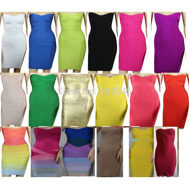 donne Nuove senza Bodycon Bandage 2014 spalline Midi Dress 54ZWxWOU