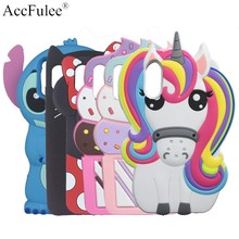 Cute Stitch Rabbit Horse Case For Huawei P8 Lite P9 Lite 2017 P10 Lite P20 P30 Pro P Smart Plus 2019 Cat Cover Phone Shell(China)