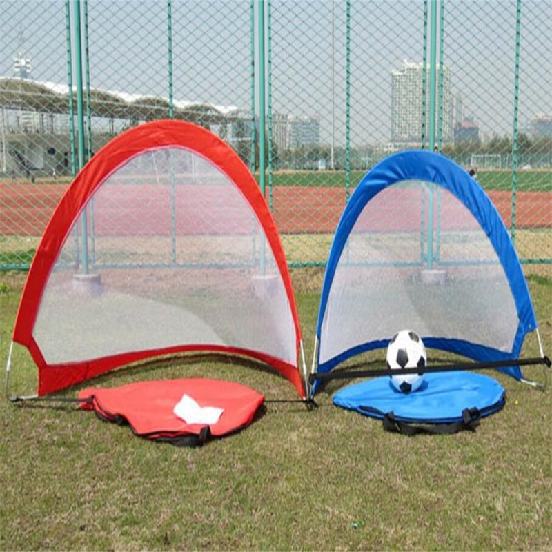1pc Portable Foldable Outdoor Sports Game Soccer Goal Net Training Football Net Tent Kids Indoor Outdoor Play Toy(China)