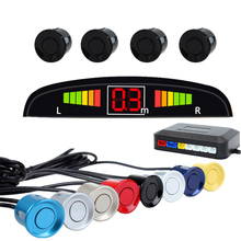 Car Parking Sensor Auto Reversing Radar with 4 Sensors Car LED Screen Blind Spot Detection System Display Parktronic Sensors стоимость