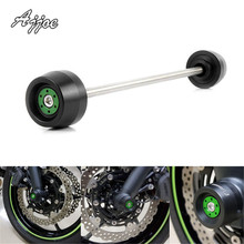 Motorcycle Front Axle Fork Sliders Wheel Protector Falling Protection For Kawasaki Z650 2017-2019 Z900 2017-2019 недорого
