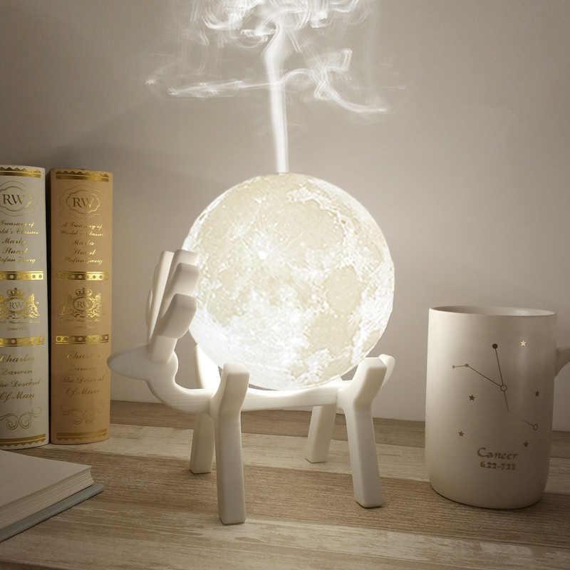 Прямая поставка 880 мл ультразвуковой увлажнитель воздуха Луна Арома эфирные масла диффузор USB тумана увлажнитель с светодиодный ночной лампой