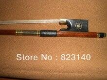 1 STÜCK brasilien-holz violinbogen Ebenholz Frosch 4/4 1001 # weißen bogen haar