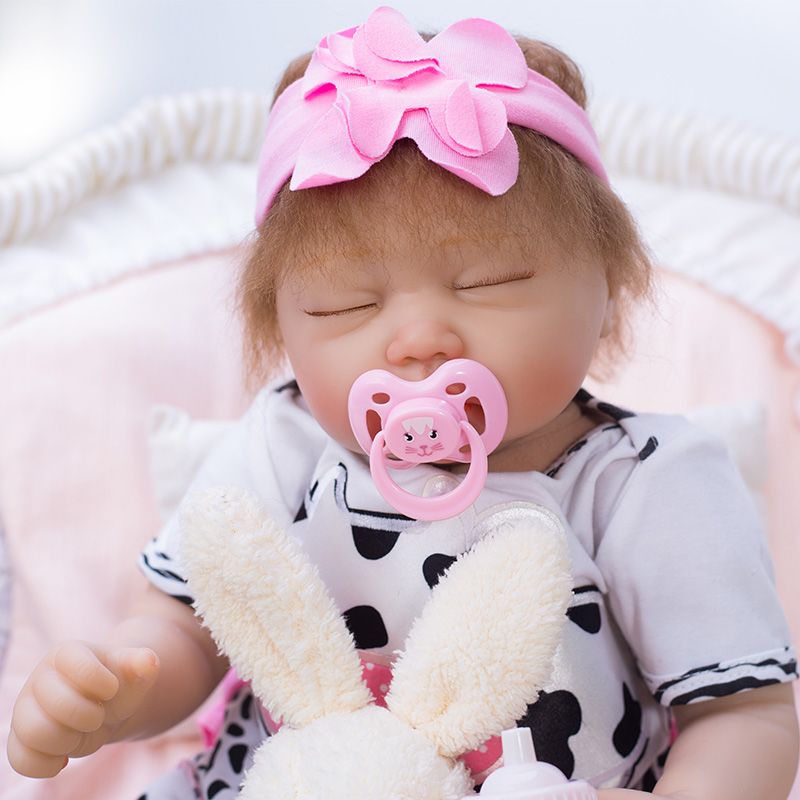 48cm Lifelike Newborn Sleeping Baby with Plush Toy Soft Vinyl Best Kids Gifts Silicone Bebe Doll Reborn Kids Birthday Gifts48cm Lifelike Newborn Sleeping Baby with Plush Toy Soft Vinyl Best Kids Gifts Silicone Bebe Doll Reborn Kids Birthday Gifts
