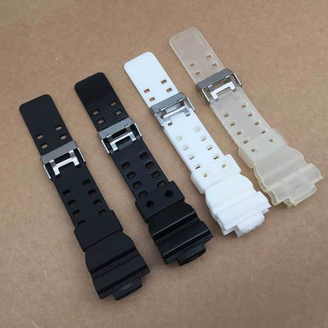 Watchband Silicone Rubber Band Men Sports Diving Black Strap For CASIO Replace Electronic Wristwatch Belt Watch Accessories