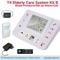 Guarder Mayor GSM Sistema de Alarma de Seguridad Para El Hogar Cuidado de Ancianos Que Viven Ayudante SOS Alarm System Support Todo el Detector 433.92 MHz T4B