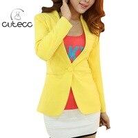 Candy Colored OL Style Elegant Slim Women Blazers Lady Work Wear Plus Size Blazers Bodycon Peplum