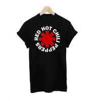 Red Hot Chili Peppers T Shirt Women Punk Rock Music Concerts Casual Tee Tops Printing Tee