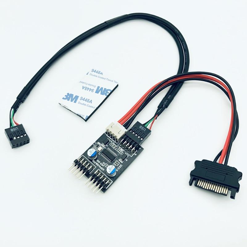 New 9 SATA Power Adapter Cable 4 PCS