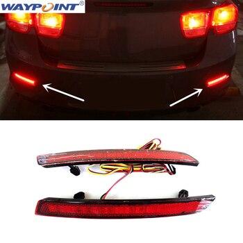 Đối với Chevrolet Malibu 2013-2015 2 cái đèn Sương Mù Phía Sau 3 hàng với đèn lần lượt tín hiệu