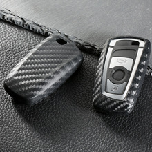 цена на Carbon fiber color Car Key Case Cover Shell For BMW F10 F20 F30 NEW 1 2 3 4 5 6 7 Series X3 X4 320I 116I 118I 328I 530I