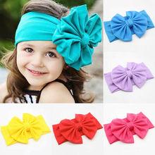 цена на 1PCS Cute Baby Toddler Girls Kids Bunny Rabbit Bow Knot Turban Headband Hair Band Headwrap Headwear 2019 New