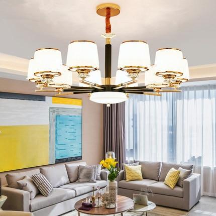 Moderne Gold Schwarz Metall Led Kronleuchter Beleuchtung Kristall  Wohnzimmer Anhänger Lichter Schlafzimmer Hängen Lampe Leuchten