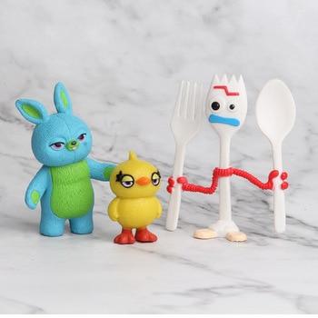 4 7 cm 7 pcs Toy Story Woody Buzz Lightyear Jessie fokry 4 Azul Pato Amarelo