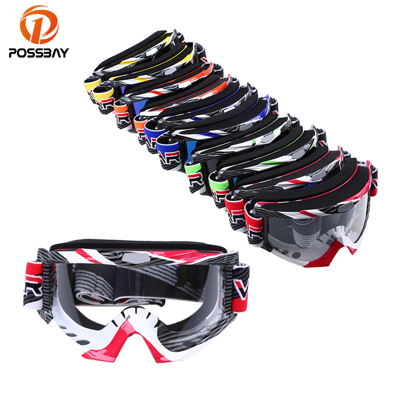 POSSBAY Ski Skate Goggles Outdoor Sports Eyewear Racing Off Road Dirt Bike Gafas Motocross Motorcycle Goggles Cycling Glasses
