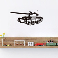 New Arrival Tank Wall Stickers Kids Favor Panzer Wall Decals Home Decor For Kids Room