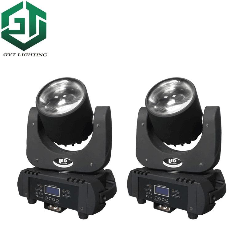 2pcs/lot 60w Led Beam Moving Head Light Beam Moving Heads Lights 60w Super Bright LED DJ Spot Light Dmx Control Stage Lighting