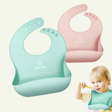 Silica Gel Bib for Baby Three-dimensional Waterproof Dinner Bag Feed silicone Children Eat Exceed Soft free shipping