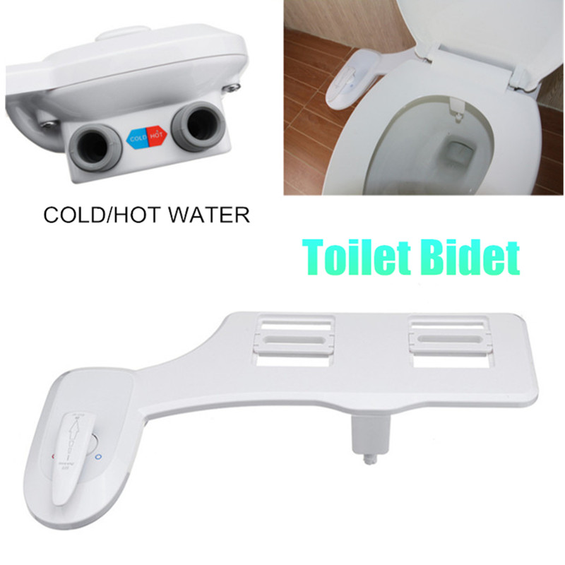 Bidet Toilet Seat Single Cold Hot Attachment Non-Electric Water Spray Cleaning Shower Bathroom Clean Tool фурнитура для унитаза luxe bidet vi 110 fresh water spray non electric mechanical page 8