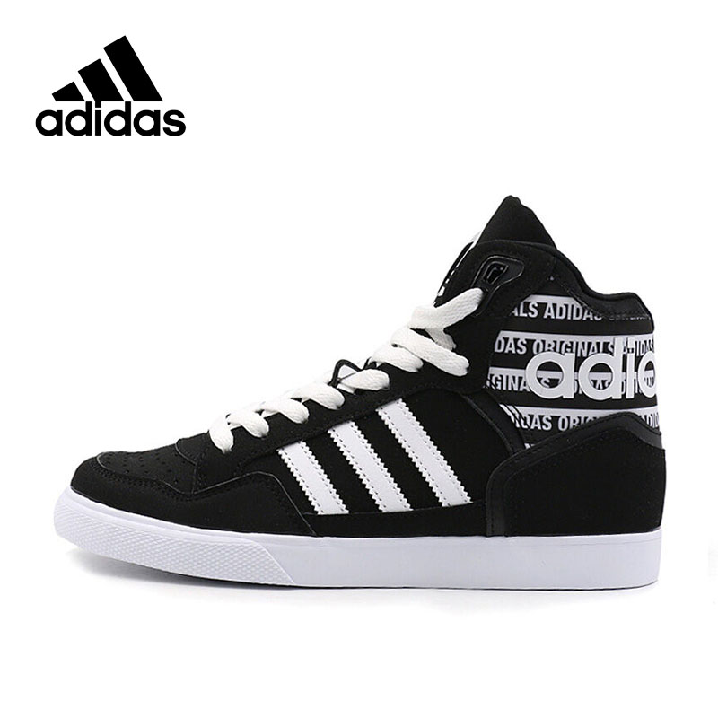 Genuine Adidas Sneakers New Originals Sports Black White Stripe Letter Unisex Skateboarding Shoes High-top Adidas Sneakers active side stripe pattern sports hoodies in white