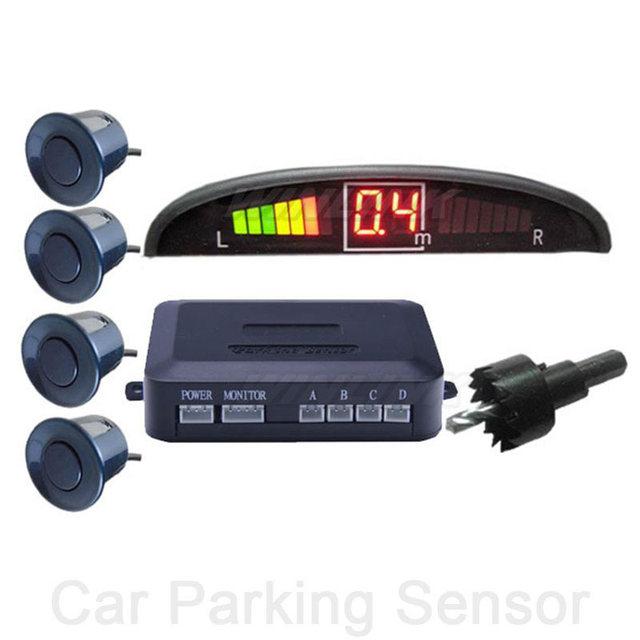 Car LED Backlight Display Monitor Parking Sensor Kit 4 Sensors 22mm Reverse Backup Radar Parking System 12V 6 Colors(option)