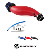 RED 6 FLARED PIPING SHORT RAM AIR INDUCTION INTAKE+ FILTER FIT FOR 1992 2000 HONDA CIVIC ACURA MOTOR SWAP H22 B 16 H 22A EG EK