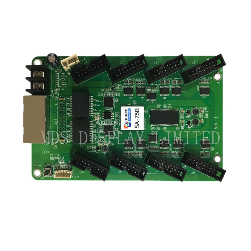 Integrated HUB75 Colorlight 5A-75B 1/32 Full Color LED Video Display Receiving Card Support 256x256 Pixel