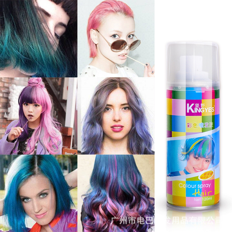 Disposable hair dye spray color dyed hair spray agent lasting does ...