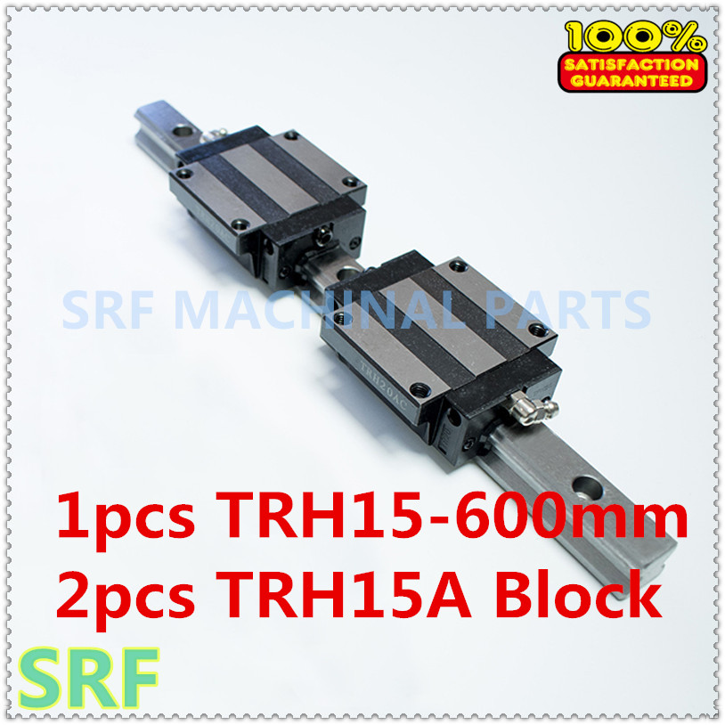цена на High quality 15mm Precision Linear Guide Rail 1pcs TRH15 L=600mm +2pcs TRH15A Flange block for CNC