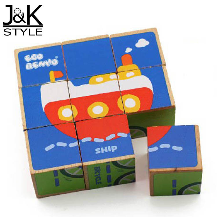 Children 3d Puzzle Cartoon Animal 6 Sides Painting Building Brick Kids Puzzles Letter Early Education Parent Child Game In From Toys Hobbies On
