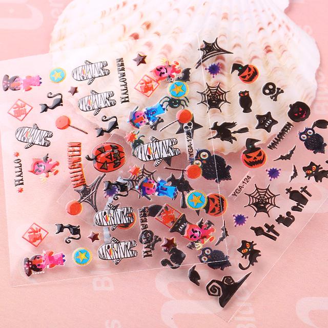 Halloween 3D Skull Pumpkin Stickers