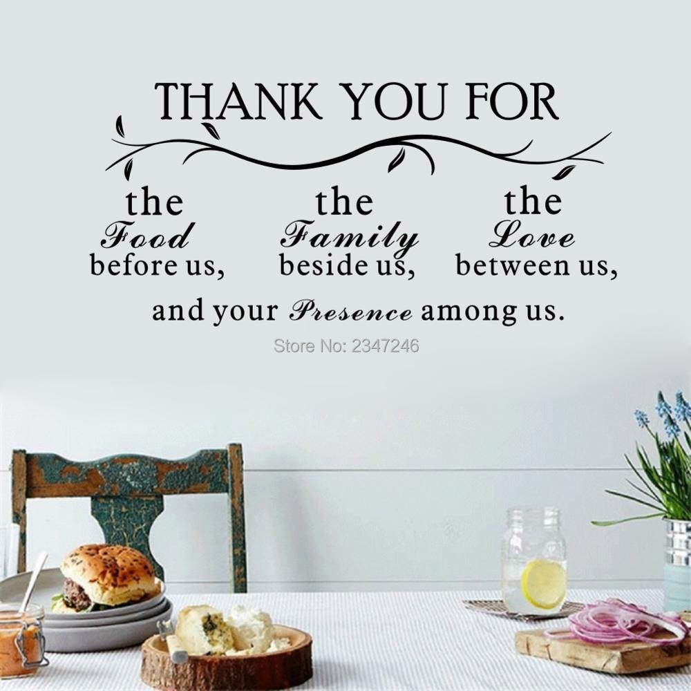 Thank You for The Good Before Us The Family Beside Us Quote Wall Stickers Family Decals Mural Art for Livingroom Decoration ...