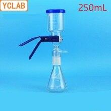 YCLAB 250mL vakum filtrasyon aparatı kauçuk tüp ile cam kum çekirdek sıvı Solvent filtresi ünitesi cihazı laboratuar ekipmanları