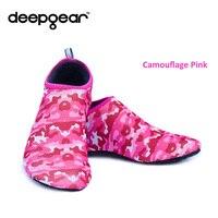 DEEPGEAR Snorkel Boots Aqua Water Sport Shoes Beach Footwear Non Slip TPE Sole Neoprene Soft Surface