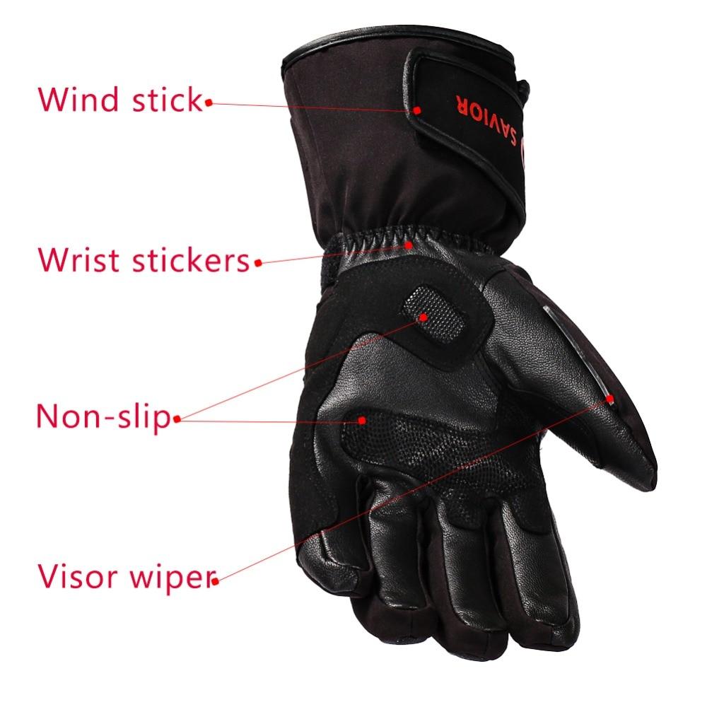 Guantes eléctricos de la motocicleta del Salvador guantes calientes de la calefacción al aire libre del invierno - 4