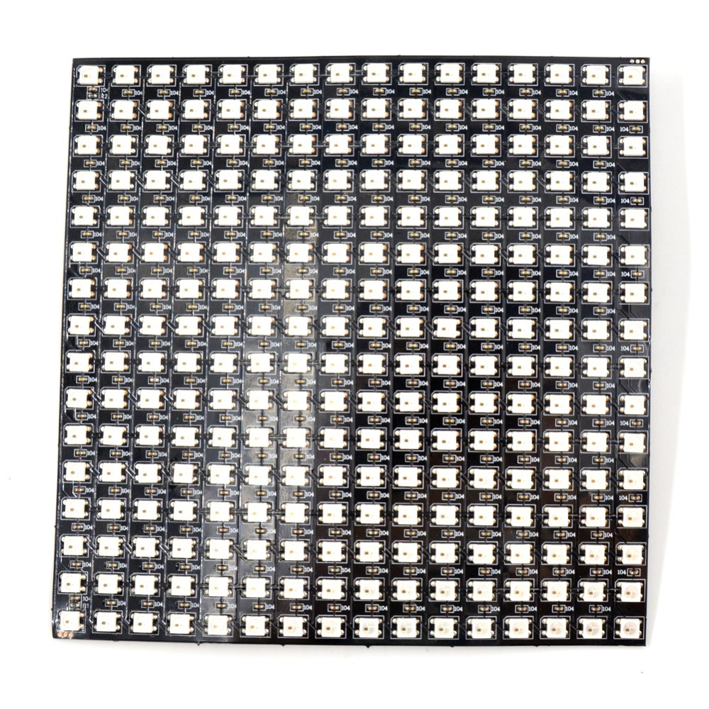 Image 5 - 16*16 Pixel 5050 RGB WS2812B panel SK6812 WS2812 Addressable Ragid LED Panel Screen Individually Addressable RGB Full Color DC5V-in LED Strips from Lights & Lighting